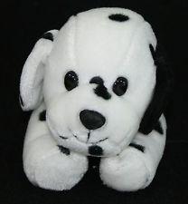 "Dalmatian Puppy Dog Black Spot White Plush Small 7"" Stuffed Walmart Lovey"