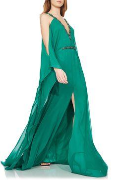 Beaded Silk Caftan Gown