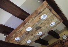 pallet roof lighting idea