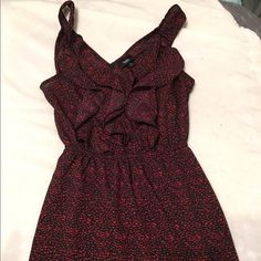 Red and black summer dress Sleeveless, worn once. Just a college girl getting some extra cash! Dresses Midi