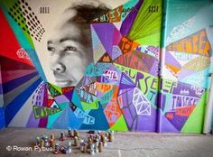 Freddy Sam: Inspiring social change, one mural at time. Mural in South Africa made for the Write on Africa initiative. Graffiti Words, Cooking Classes For Kids, Social Change, Stencil Art, Happy Summer, Inspiration For Kids, Street Artists, Art Google, Word Art