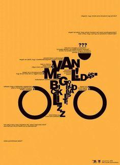Шрифтовые плакаты Арона Джанко (Aron Jancso)
