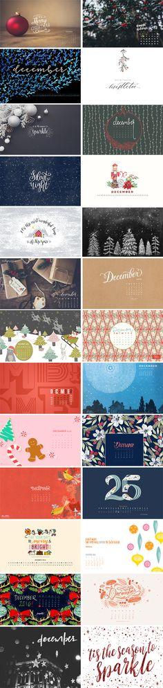 December 2016 – Wallpaper Round-Up