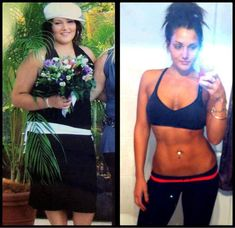 Before and After Weight Loss Photo -- How she lost 12 dress sizes in 5 months.