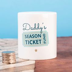 Personalised Ceramic Money Box - Season Ticket Fund | GettingPersonal.co.uk