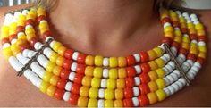 maxi colar afro amarelo - R$38.00