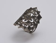 A personal favourite from my Etsy shop https://www.etsy.com/listing/279970222/elegant-lace-ring-silver-lace-ring