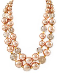 Champagne Pearl Necklace – Modeets.com