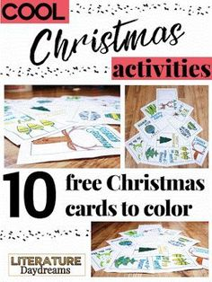 10 FREE Christmas Card coloring templates to print and use. Perfect for high school teens!