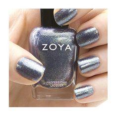 Zoya Nail Polish is an Ultra Long Wearing toxin free nail polish & treatment. No formaldehyde, formaldehyde resin, toluene, dibutyl ph FeiFei is a medium steel blue base with heavy gold and blue iride