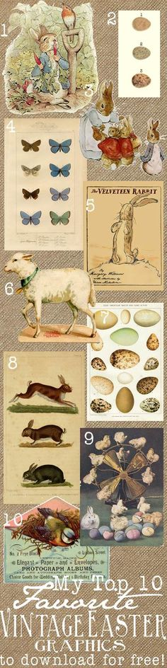 {Ella Claire}: Top 10 Favorite Free Vintage Easter Graphics