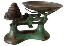 Green Scale w/ Weights Weights, Scale, Antiques, Green, Vintage, Weighing Scale, Antiquities, Balance Sheet, Antique