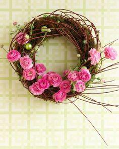 Guirlanda rústica com flores