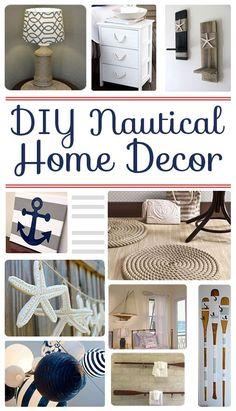 DIY Nautical Home Decor - http://www.diyhomeproject.net/diy-nautical-home-decor