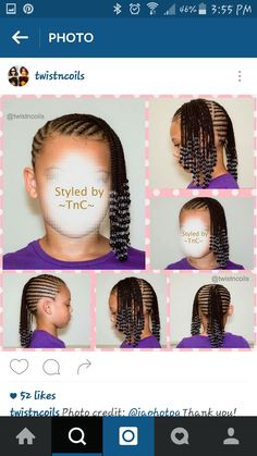 | • Pinterest; Flawlessmia | ✨ Braids For Kids, Toddler Braids, Girls Braids, Toddler Braided Hairstyles, Little Girls Natural Hairstyles, Black Kids Braids Hairstyles, Amazing Hairstyles, Little Girl Hairdos, Little Girl Braids