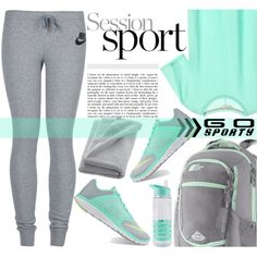 Go sporty by edita-m on Polyvore featuring NIKE, The North Face, CB2 and sportystyle