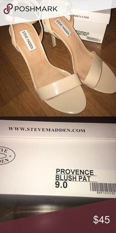 Steve Madden Blush Patent Leather Heels. Size 9 Size 9 . Worn one time . Heel height 4.25 inches Steve Madden Shoes Heels