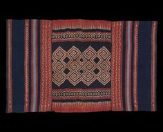 "Toraja, Sulawesi, Indonesia,  Textile. Cotton, ikat 19th very early 20th century, 100"" x 61"""
