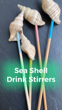 Collect sea shells on the beach and turn them into easy DIY sea shell cocktail stirrers perfect for any summer occasion! Summertime Drinks, Summer Drinks, Summer Diy, Summer Crafts, Cocktail Videos, Beach Cocktails, Diy Cans, Seashell Crafts, Beach Crafts