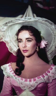 "Elizabeth Taylor is shown in costume for her character in the film ""Raintree County"" in 1957."