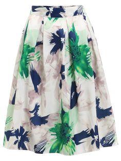 Shop Flower Print Pleated Skirt online. SheIn offers Flower Print Pleated Skirt & more to fit your fashionable needs.