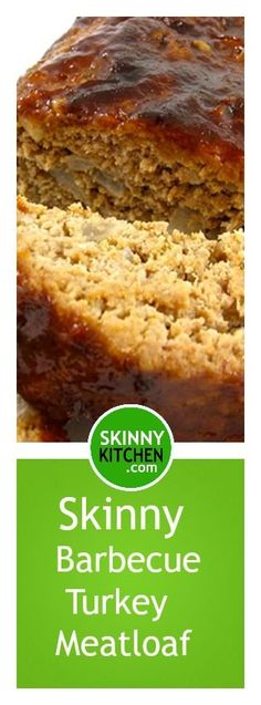 Barbecue Turkey Meatloaf. One of my favorite ways to make meatloaf! Each serving has 252 calories, 3g fat & 6 Weight Watchers POINTS PLUS. http://www.skinnykitchen.com/recipes/barbeque-turkey-meatloaf/