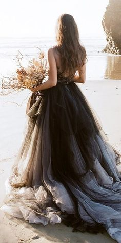 themes black and white 18 Bridal Ideas By Colour: Black And White Wedding Dresses Black And White Wedding Theme, Black Wedding Gowns, Wedding Dress Trends, Gothic Wedding, Colored Wedding Dresses, Boho Wedding Dress, Dream Wedding Dresses, Bridal Dresses, Unusual Wedding Dresses
