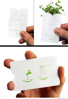 So ridiculously cool - as if you wouldn't want one of these business cards