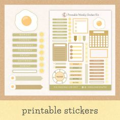 $2.92 · Create a stunning bullet journal theme with this printable breakfast planner kit. Chose from 50 aesthetic stickers that are perfect for on-the-go planning and weekly spread set-ups. And since this is… More Bullet Journal Themes, Bullet Journal Spread, Bullet Journal Layout, Bullet Journal Inspiration, Journal Stickers, Scrapbook Stickers, Planner Stickers, Printable Stickers, Printable Planner