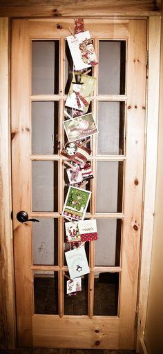 Ribbon Christmas Card Holder by rhoda