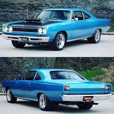 1968 Plymouth Hemi Roadrunner 🔥🔥💪🏻 - Pin to Pin Plymouth Muscle Cars, Dodge Muscle Cars, Best Muscle Cars, American Muscle Cars, Dodge Charger, Plymouth Road Runner, Best Classic Cars, Mustang Cars, Sweet Cars