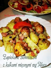 W mojej kuchni: Ziemniaczki zapiekane z mięsnymi kulkami wg Aleex Ale, Polish Recipes, Potato Salad, Cauliflower, Casserole, Menu, Cooking Recipes, Potatoes, Chicken