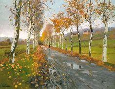 Das Kunstwerk Herbstliche Allee nach Beaulieu. - Frits Thaulow liefern wir als…