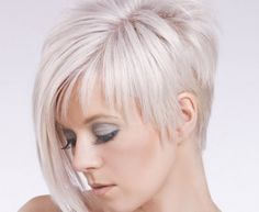hairstyles short on one side and long on the other - Google Search