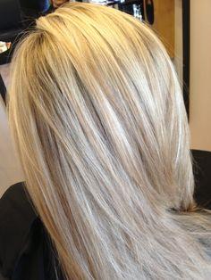 platinum blonde with blonde lowlights. White Hair With Lowlights, Blonde Lowlights, Blonde Hair With Highlights, Brown Highlights, Low Lights Hair, Natural Hair Styles, Long Hair Styles, Hair Skin Nails, Platinum Blonde