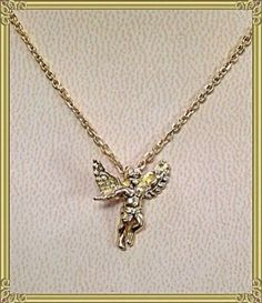 18K Gold Angel Pendant Love God Tara Inspired Cupid | eBay