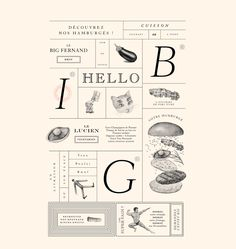 Branding for Big Fernand - love the hints of vintage illustrations combined with sophisticated typography