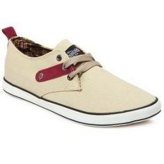 Roadster Men Beige Canvas Shoes @ 909