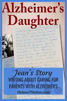 When both her parents were diagnosed with Alzheimer's on the same day, Jean started journaling about her experience caring for them, eventually publishing her memoir, Alzheimer's Daughter, with the hope to help other caregivers. Coaching, Aging Parents, Alzheimer's And Dementia, Changing Jobs, Elderly Care, Personal Hygiene, Alzheimers, Alzheimer Care, Life Purpose