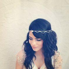 Lorea Bridal Headband, Swarovski Crystal, Tiara, Crown, Halo, Wedding Headpiece, Bridal Hair Piece, Ships in 1 Month