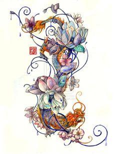 I like this shape. Tattoo Commission by Asfahani.deviantart.com