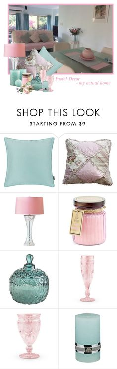 """Pastel Decor -my actual home"" by lorrainekeenan ❤ liked on Polyvore featuring interior, interiors, interior design, home, home decor, interior decorating, Port 68, Crate and Barrel, D.L. & Co. and Pier 1 Imports"