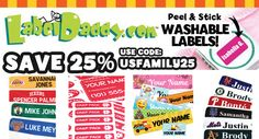 Back to School 25% off Savings with Label Daddy! » Connected2Christ