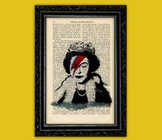 Banksy Queen Elizabeth Art Print - Street Art Stencils Book Art Poster Dorm Room Print Gift Print Wall Decor  Dictionary Art Print Dictionary Art, Banksy, Queen Elizabeth, Wall Prints, Dorm Room, Good Books, Book Art, Stencils, Street Art