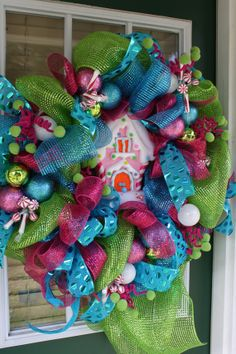 Christmas Wreath by AllThingsNicole on Etsy, $99.00