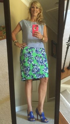 inspired by Earth Day Skirt: #JCrew @J.Crew Top: #Gap @Gap Shoes: #Versace @versaceofficial