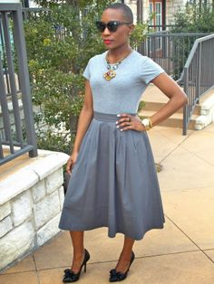 Friends with Vintage: Monochromatic Urban Street Style, Street Style Women, Stylish Work Outfits, Casual Outfits, Urban Fashion, Girl Fashion, Natural Hair Styles, Short Hair Styles, Short Black Hairstyles