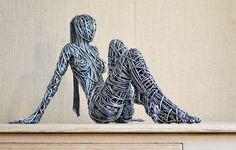 Las esculturas de alambre de Richard Stainthorp