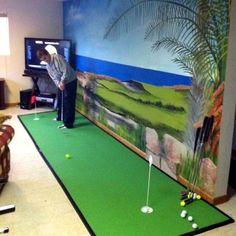Diy Indoor Golf Driving Range Projects Pinterest