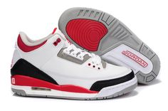 buy popular cf565 cc158 Air Jordan 3 Retro White Fire Red Cement Grey Basketball Shoes for sale at Air  Jordan 3 Retro online store